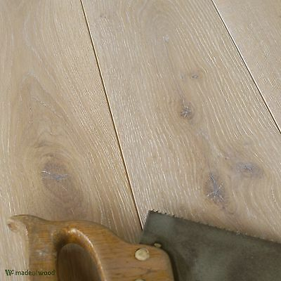 Classic Floorboards - Oak Limed - Brushed & Osmo White Oiled Wood DD14