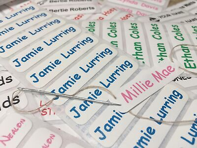 50 Sew In /Iron On School Uniform/Clothing Satin Identity Name Labels/Tags/Tapes