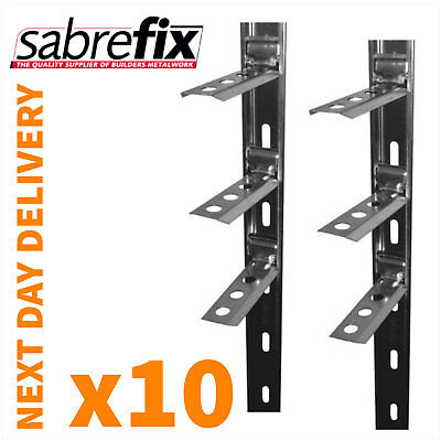 10 x Wall Starter Kits - Stainless Steel - Ties & Fixings