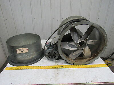 "DAYTON 4C661 1-1/2 HP 18"" Tubeaxial Fan W/ 115/230V Motor & Duct Fitting Tested!"