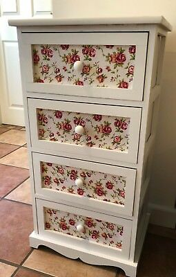 White Chest of Drawers Storage Unit Cabinet Shabby Chic Bathroom Bedroom Pink