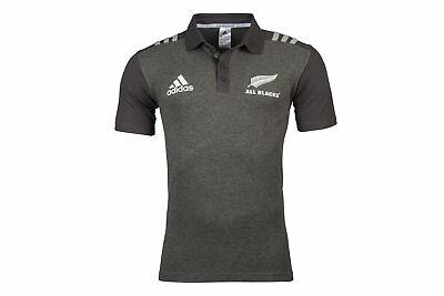 adidas New Zealand All Blacks 2017/18 Players Rugby Polo Shirt