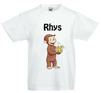 Curious George Personalised Children's T shirt!