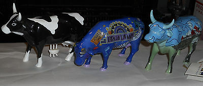 Cow Parade Lot Of 3 figures:Mootzaart, Broadway and Puzzled. Westland. Nice !