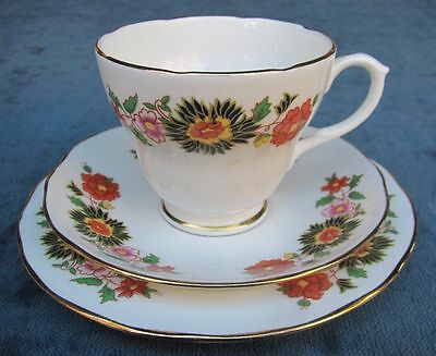 Pretty Vintage Duchess Floral Bone China Trio
