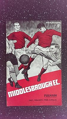 Middlesbrough V Fulham 1968-69