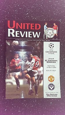 Manchester United V Bordeaux 1999-00.
