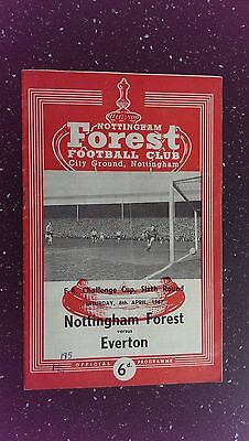 Nottingham Forest V Everton 1966-67.