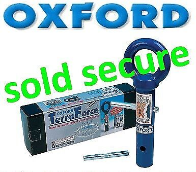 OXFORD Terra Force Ground Anchor MOTORCYCLE MOTORBIKE SOLD SECURE SECURITY