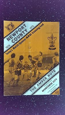 Newport County V Worchester City 1978-79.