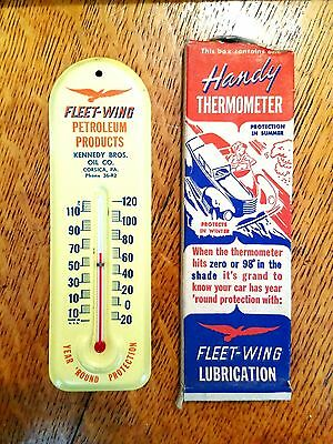Nos!! Fleetwing Lubrication Thermometer 1940's