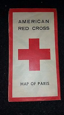 WWII American Red Cross Map of Paris
