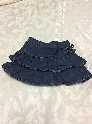 Childrens Place Toddler Girls Ruffled Denim Skort Skirt Size 4T