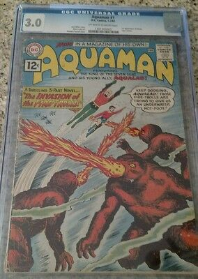Aquaman #1 CGC 3.0 D.C Comics First issue off white to white pages.