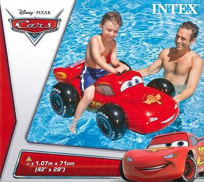 intex Disney Cars Swimming Pool Float Lightning Mcqueen Inflatable Car Ride on