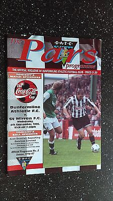 Dunfermline Athletic V St Mirren 1996-97