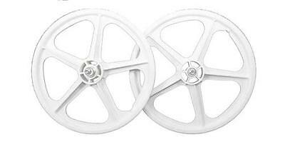 "Coyote Bicycle Cycle Bike 20"" Plastic BMX Wheel Steel Hub Rear - White"