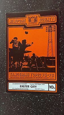 Newport County V Exeter City 1975-76