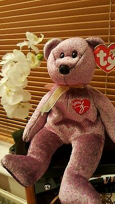 """Ty Beanie Baby """"2000 Signature Bear"""" - Mint - Perfect Cond. Great Value RRP£4.99"""