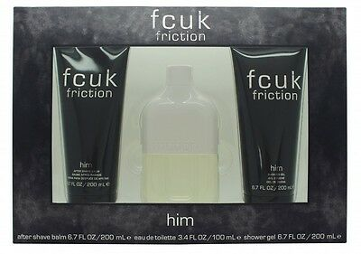 Fcuk Friction Him Gift Set 100Ml Edt + 200Ml Body Wash + 200Ml Aftershave Balm