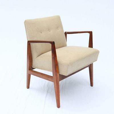 Jens Risom Rare Mid-Century Arm Chair Walnut Danish Modern