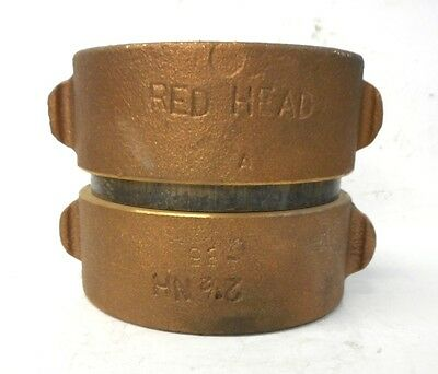 """Red Head, Double Fe,Ale Swivel Connection, 2 1/2"""" Nh, Brass"""