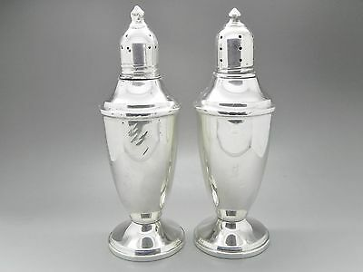 "Revere Sterling 1151 Weighted 925 Silver Salt and Pepper Shakers Set 5"" 265g"