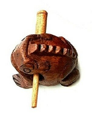 Wooden Croaking Frog Guiro - Set of Three 2.5 in 6cm - Handcarved Party Teacher