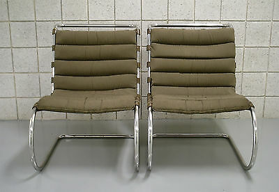 2 (Two) Knoll MR Armless Lounge Chairs. Sold as a pair $3995.00