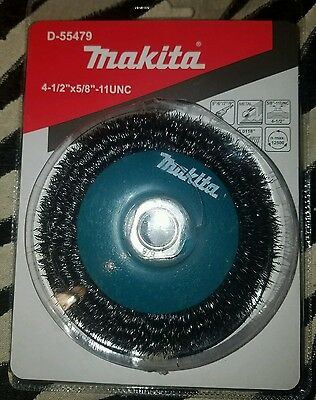 "Makita D-55479 4 1/2"" X 5/8""-11 Unc Crimped Wire Wheel Brush"