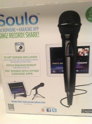 Soulo AM74 Microphone + Karaoke App for iPad iPod 10 free songs + 2 Stands