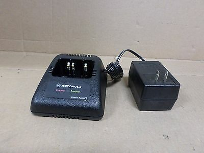 Motorola HTN9042A Radio Battery Charger Cradle and Power Supply IntelliCharge