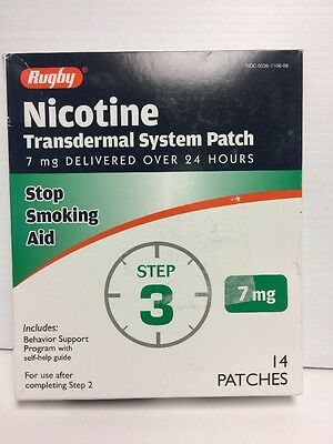 Rugby Nicotine Patch Transdermal System  7mg-14-PATCHES Step-three