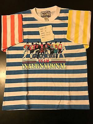 Vintage NWT 80s Bugle Boy Team International Soccer Rugby Youth XL Shirt