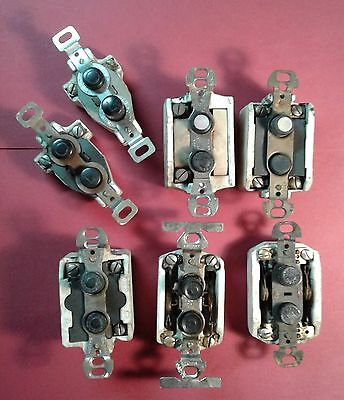 antique pushbutton light switches bakelite mother of pearl vintage steampunk