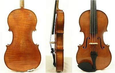 Fine old antique 4/4 Size Violin labeled, Made in Germany, One Piece Back!