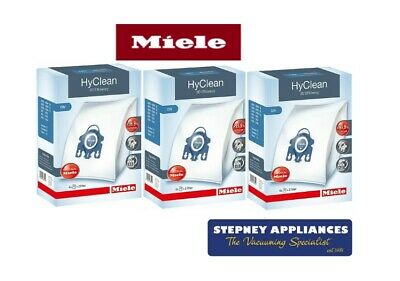 3 X Boxes  Miele Genuine Gn Hyclean 3D Efficiency Vacuum Bags