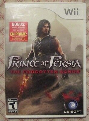 Nintendo Wii Prince of Persia The forgotten sands (Manual, box and game)