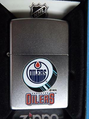 Zippo Lighter  Edmonton Oilers Pucklogo Nhl Hockey Team Fan Collector 2011 Disc.