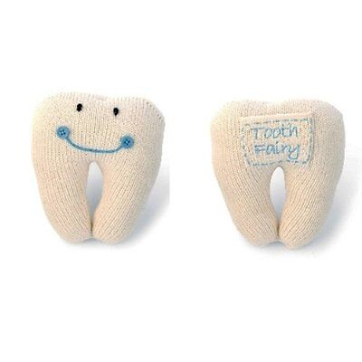 Mud Pie Blue Tooth Fairy Pillow 211A014
