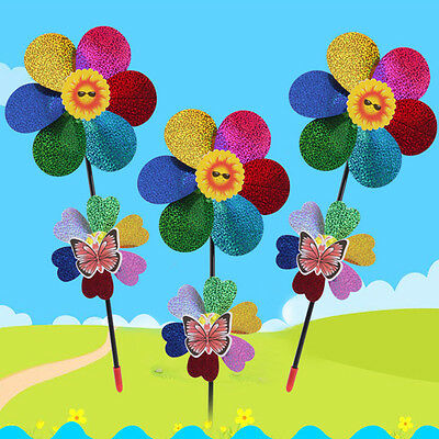 New PVC Sequined Windmill Home Garden Party Wedding Decoration Kids Toy