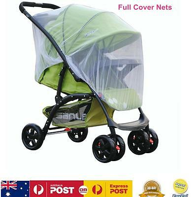 Universal Insect Cover Mosquito Net For Pram Stroller Push Chair Accessory White