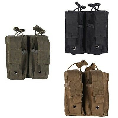 Portable Molle Military Two Rifles Magazines Pouch Tactical  Pocket Bag Outdoor