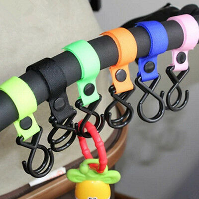 Accessories Portable Baby Stroller  Holder Hooks New Plastic Hanging Strap Nylon