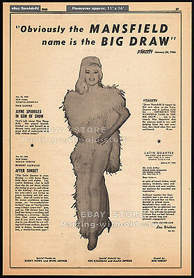 JAYNE MANSFIELD__Original 1966 Trade AD / Theatre promo_poster__FRENCH DRESSING