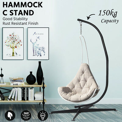 150KG Hammock C Stand Solid Steel Construction For Hammock Air Porch Swing Chair