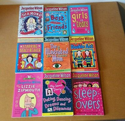 JACQUELINE WILSON paperback books girls teens bundle x9