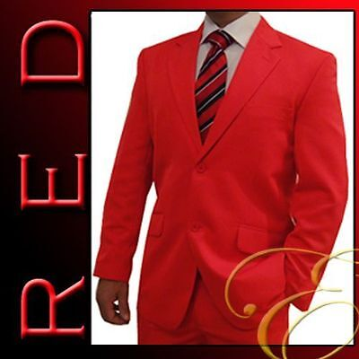 NEW RED MENS SUIT MICROFIBRE WEDDING SCHOOL FORMAL MENSWEAR -  Aus Seller -