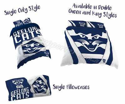 Geelong Cats 2018 AFL Quilt Cover Doona Single Double Queen King Pillowcase