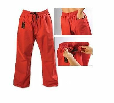 ProForce Combat Karate PANTS SALE! - Martial Arts Taekwondo Training Uniform RED